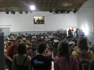 The audience / participants in San Pedro de Jujuy.