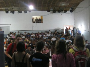 The audience / participants in San Pedro de Jujuy.